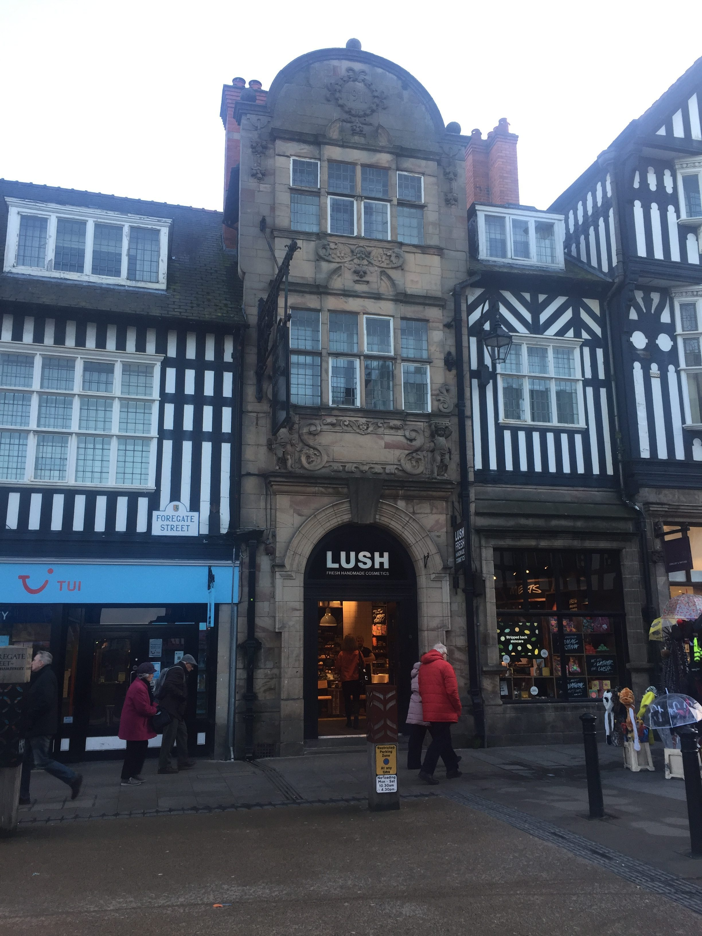 Blossoms hotel lush entrance East Gate street Chester