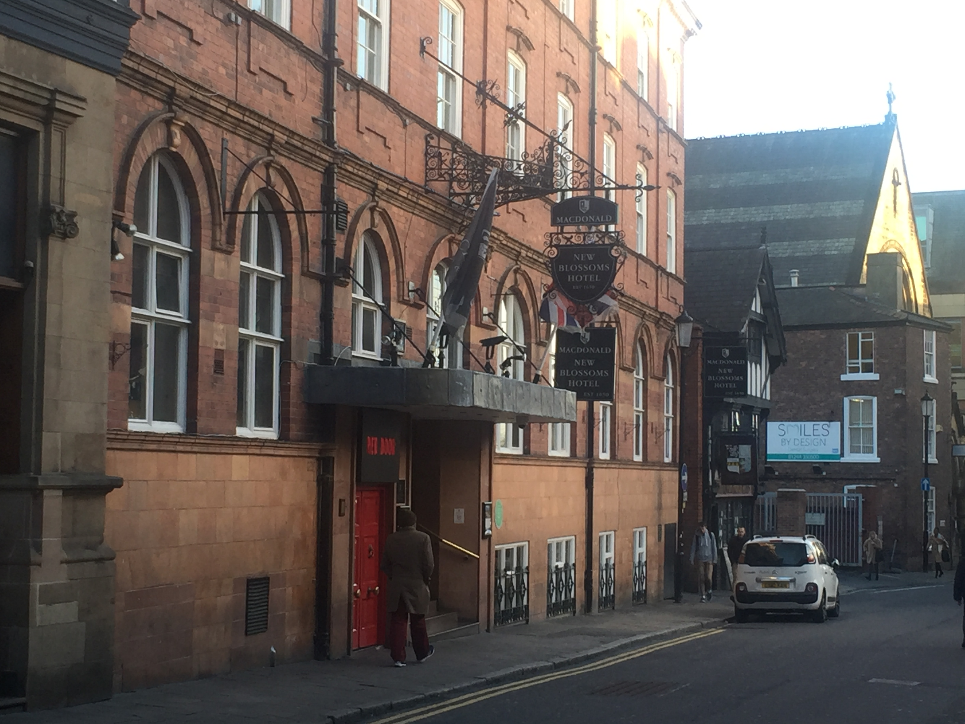 New Blossoms hotel entrance st John street Chester