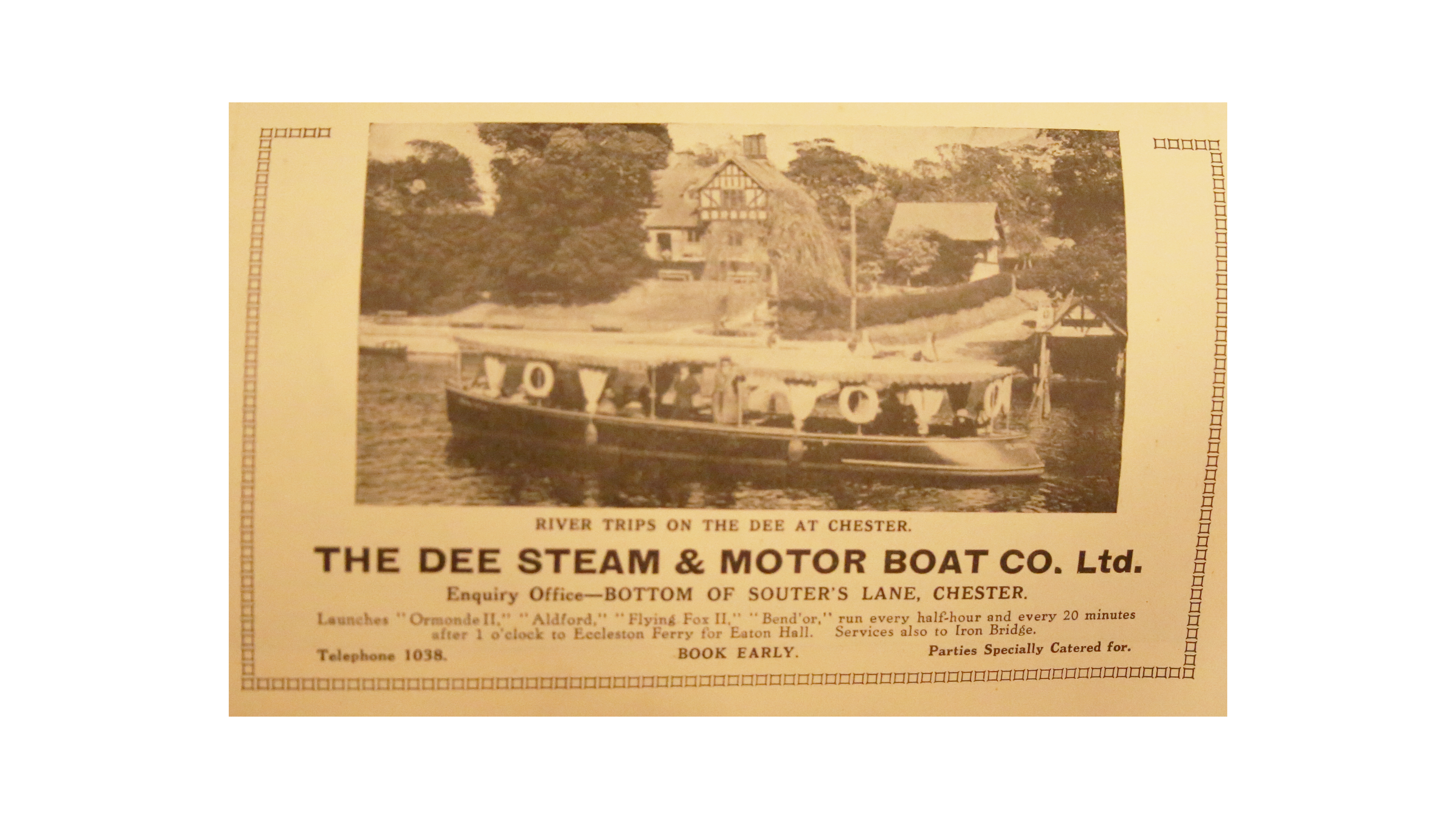 Dee steam and motor boat